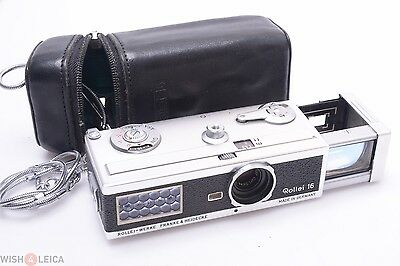 Rollei 16 Subminiature Camera Zeiss Tessar 25Mm 2.8 W/ Case & Macro Chain