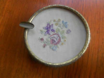 Beautiful Vintage/antique Ormolu Petit Point  Dressing Table Ashtray