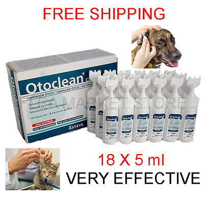 OTOCLEAN esteve 18x5ml cat cats dog dogs ear clean ears hygiene otitis bad smell