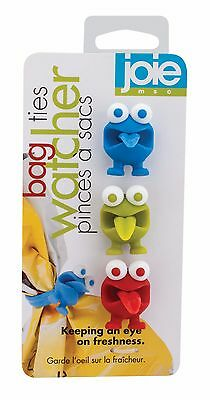 JOIE MSC PLASTIC CARRIER BAG CLIPS X 3 PIECE RED BLUE GREEN 7.5CM SEAL