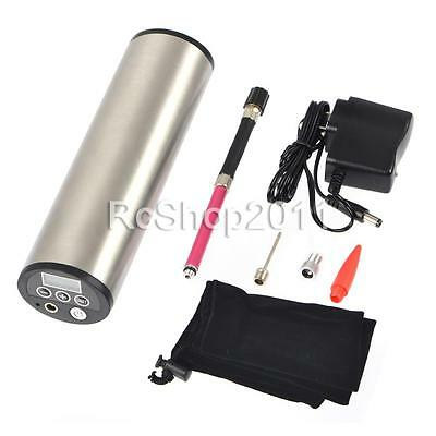 Rechargeable Portable LCD Display 50PSI 12V Electric Car Bicycle Air Compressor