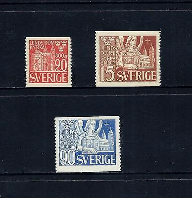 SWEDEN _ 1946 'LUND CATHEDRAL' SET of 3 _ mnh ____(479)