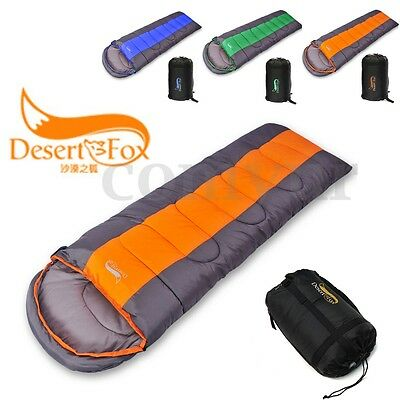 4-5 Season Adult Waterproof Envelope Camping Hiking Sleeping Bag Suit Case
