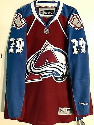 NHL Colorado Avalanche Nathan Mackinnion Premier Eishockey Hemd Trikot