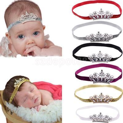 Baby Kids Girls Infant Toddler Princess Crystal Crown Tiara Glitter Headband