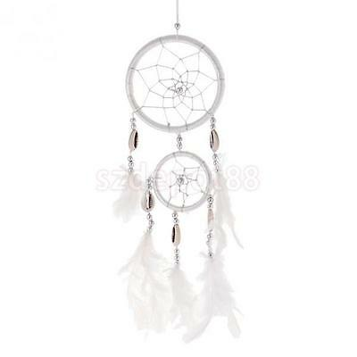 "13"" Traditional Dream Catcher Wall or Car Hanging Ornament with Feathers"