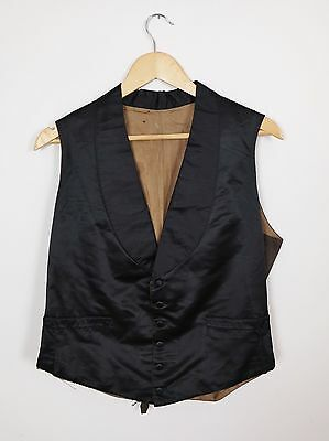 19th Century Vest Antique Waistcoat 1900  Waistcoat Victorian Vest Silk Satin