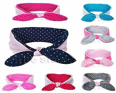 Baby Kid Girl Bunny Headband Reversible Cotton Rabbit Bow Turban Knot Hair Band