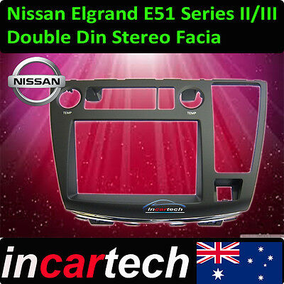 GENUINE Nissan Elgrand E51 04-07 Double 2 Din Facia GPS/TV/DVD/CAMERA Syd Stock