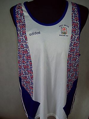Great Britain 42/44 Adidas Barcelona 1992 Olympic RARE TOP CONDITION jersey