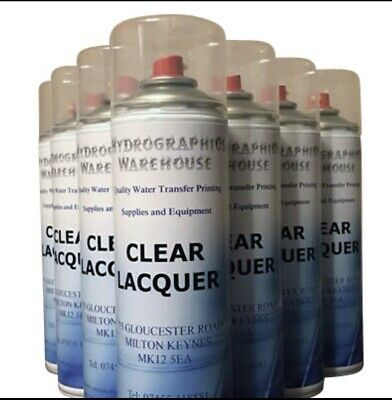 1 Aerosol clear lacquer free post !!  hydrographics painting  print Hydro-Vator