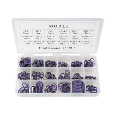 265Pcs R134a Car Air Conditioning A/C System O-Ring Seal Assortment Kit MA1162