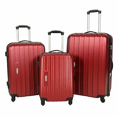 RED Suitcase Luggage Hard shell Strong ABS Lightweight 4 Wheel With LOCK BAGS