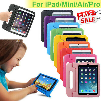 Shock Proof Kids Safe Foam Case Handle Cover Stand for iPad 2 3 4 Mini 1234 Air
