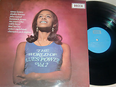 VARIOUS ARTISTS. THE WORLD OF BLUES POWER Vol.2. DECCA SPA 63 (HARD TO FIND LP).