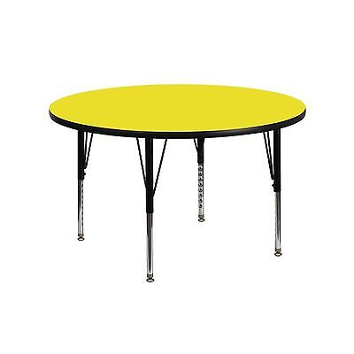 Flash Furniture XU-A48-RND-YEL-H-P-GG Round Activity Table with Yellow Thick ...