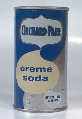 Vintage Orchard Park Creme Steel Soda Pop 12oz Can - Chicago IL