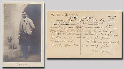 George V., King – signed photo and autographed letter signed