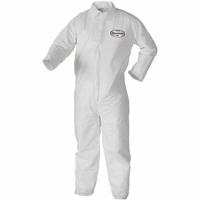Paint Coveralls Collared Zipper Open Wrists & Ankles Lg     KLEENGUARD A40 44303