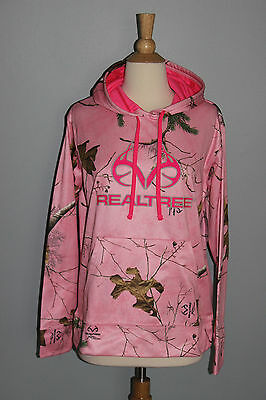 b03ee012257c LADIES New Camo Pink REALTREE Hoodie Womens S M L XL Hunting Hooded  Sweatshirt