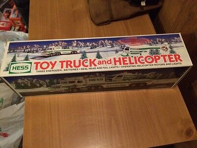 Hess Toy Truck And Helicopter New In Box 1995