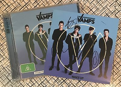 THE VAMPS Wake Up SIGNED Autographed CD/DVD!!