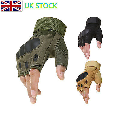 Half Finger Paintball Gloves Outdoor Airsoft Armour Tactical Hunting Fingerless