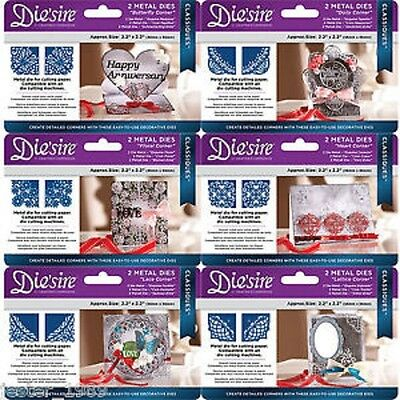 Crafters Companion Die'sire Classiques Corner Dies Lace Heart Butterfly Lattice
