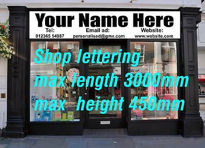 shop front sign vinyl lettering signs business signage advertising custom name