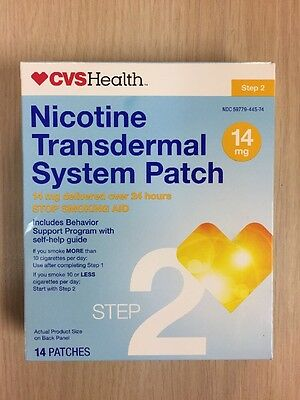 14 STEP 2 CVS Stop Smoking Aid EXP 09-2018 Nicotine Transdermal Patches