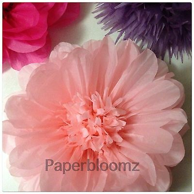Paperbloomz Large Paper Flowers - Pink Tissue Paper Flowers Wall Decorations