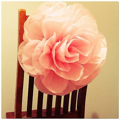 Paperbloomz Large Pink Paper Roses X 5 Bulk Tissue Paper Flowers Wall Decor
