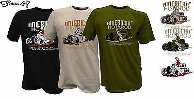 Herren T-Shirt Ford Mustang Mechaniker Hot Rod Rockabilly  Old Timer  Us V8