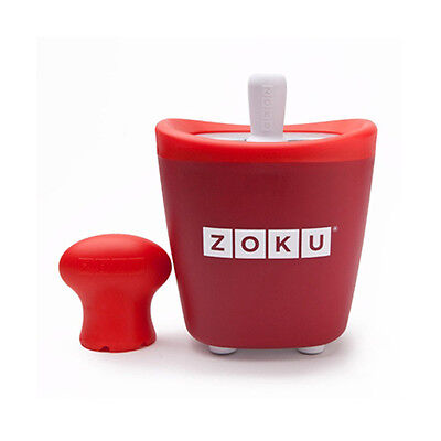Zoku Quick Pop Red - Single Ice Lolly maker - Easy quick to make fun ice pops