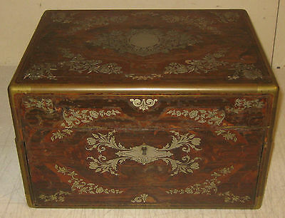 Antique Early PAUL SORMANI Sterling Silver Inlaid MARQUETRY PARIS Lap Desk BOX
