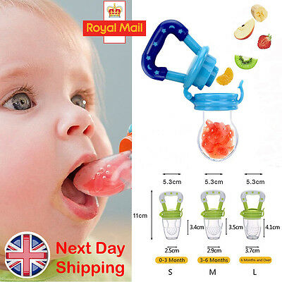 Baby Dummy Pacifier Fresh Fruit Food Feeder Feeding Nibbles Weaning Teething UK