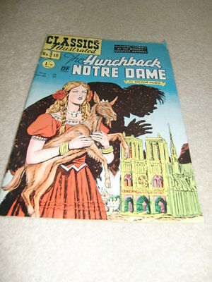 Classics Illustrated No 18 The Hunchback Of Notre Dame - NO 18  '53