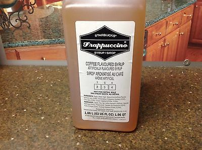 Starbucks Frappuccino Syrup Coffee Flavored 63 fl Oz. New Free Shipping FRESH!!