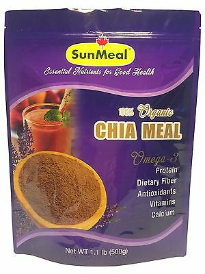 Organic Chia Seed Meal - 100% Pure - 18 OZ, Rich in Protein and Dietary Fiber
