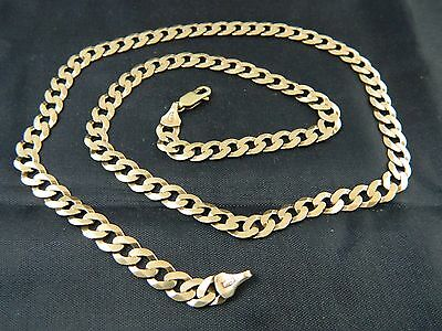 """9ct Gold Hallmarked Heavy Curb Cain Womens / Mens / 20.5"""" Long / Weight 15.9g"""