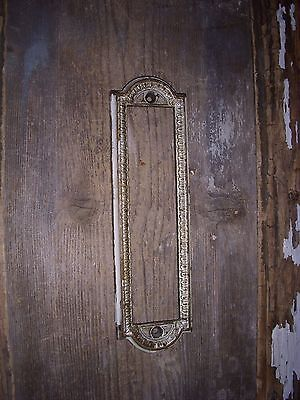 Vtg Old Chippy Heavy Brass Egg Dart Fancy Raised Edge Door Knob Back Plate Frame