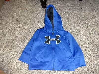 Nwot New Under Armour Boys Blue Zip Up Hoodie 18M 18 Months