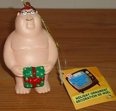 FAMILY GUY Peter Griffin nude w/package Christmas Ornament w/Tag Kurt Adler