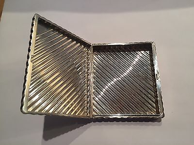 Antique Chic Silver Cigarette Case Holder With Provenance