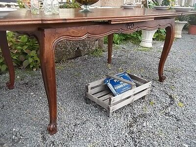 french vintage Louis xv style extending quality oak dining table