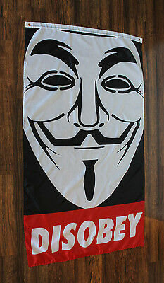 Anonymous Disobey Flag Occupy Antifa Government Protest Anon Guy Fawkes Vendetta