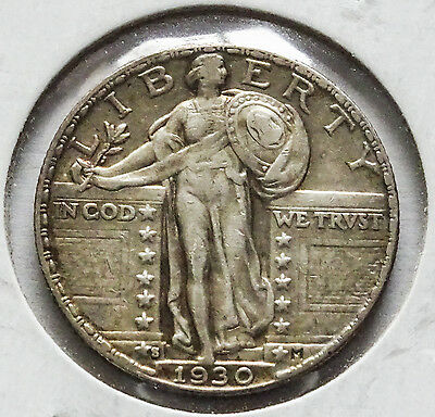 1930-S Silver Standing Liberty Quarter AU - We combine Shipping