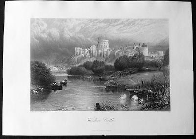 WINDSOR CASTLE c1876 Antique Engraved Print from Picturesque Europe