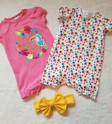 Girls summer Rompers 3-6 months NEW