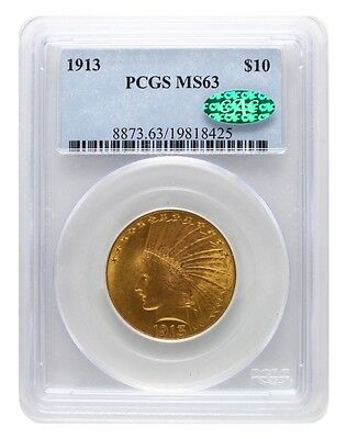 1913 PCGS MS63 $10 CAC Indian Head Gold Eagle